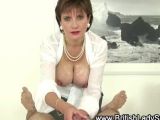busty mature lady sonia gives cook jerking