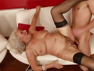 lusty breasty granny fucking with a lad
