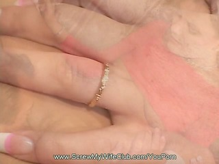 hubby approves of wife being used