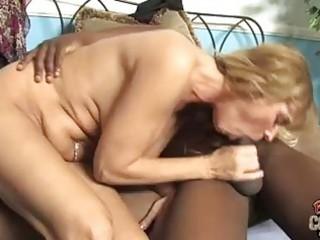 golden-haired momma with big happysacks engulfing