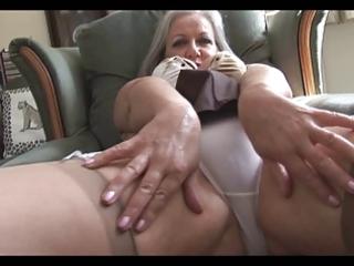 stylish breasty granny striptease