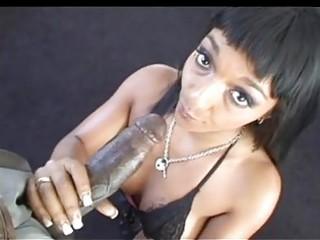 dark haired ebon momma sucking biggest black