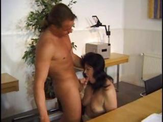 mature dark-haired milf receives fucked on a