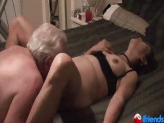 Mature couple while she screams with pleasure