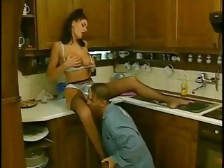 excited dark brown housewife fucking hot youthful