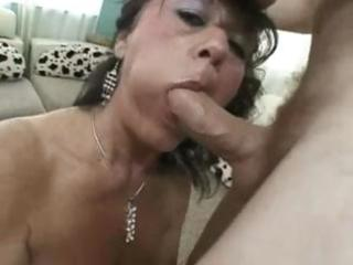 breasty aged debella eats his pecker and receives