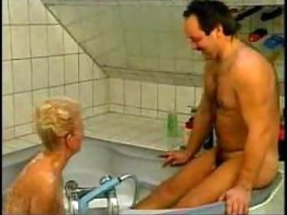 naughty german grandma screwed in bathtub amateur