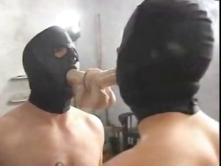Mistress Sade fucks with her hooded slave and