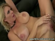breasty milf receives fucked in shoes black cock
