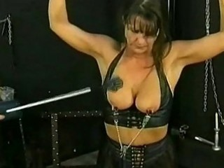 Bdsm session with hot mature slave part 4