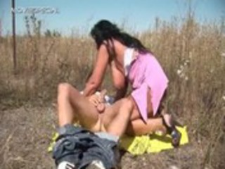 concupiscent milf acquires fucked hard outdoor