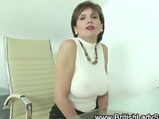 gloved lady sonia plays with cock