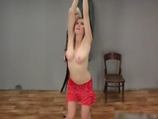 Slutty blond milf whip brunette teen  part5