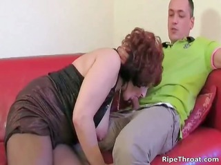 nasty redhead hoe gets in nature for her dude