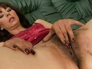 hairy grandma masturbating and getting drilled
