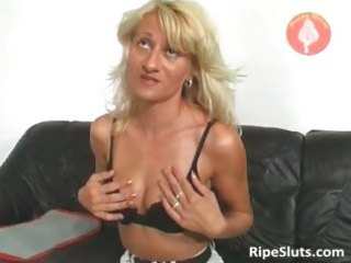 very hawt aged blonde gets wet love tunnel