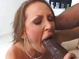 White milf wife fucks black man interracial mature