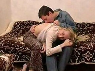 slender russian mature lady fucking with a chap