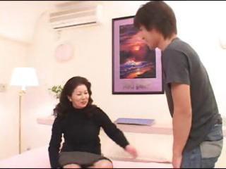 asian milf chizuru iwasaki acquires a young guy