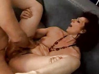 Hairy mature tramps get an anal banging