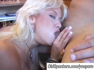 sexy blond mother i in stockings