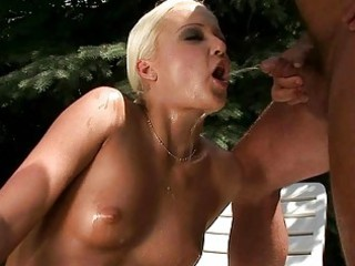 granddad fucking and pissing on youthful blond