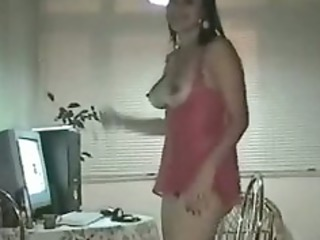non-professional latin chick wife
