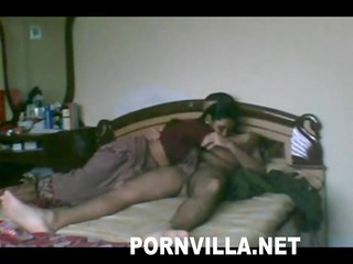 Indian Wife with her boyfriend in hotel