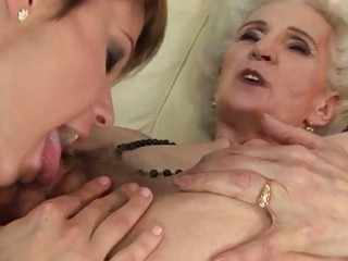 granny enjoying lesbo sex