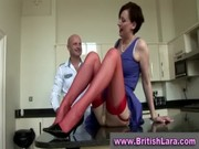 aged lady instructs dilettante about nylons