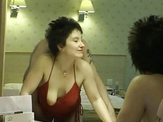 Short haired brunette milf gets into a amazing