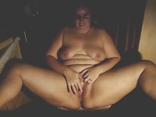 chubby older rubbing to an big o