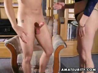 dilettante plump mature redhead receives a young