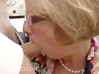 joy scene with mature honey in glasses hardcore