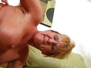 older granny takes hard pounding