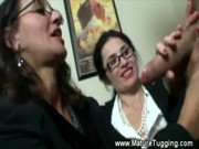 aged office ladies receive sexy at work