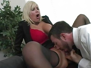 amazing golden-haired mother i with large breasts