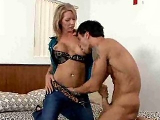 breasty milf gives her chap a tugjob