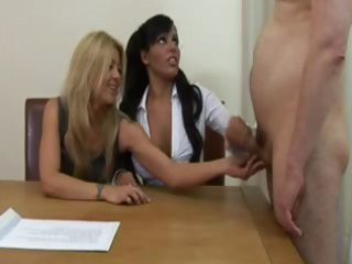 office matures call in men to jerk off