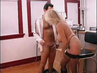 breasty aged secretary gets drilled in office