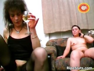 horny aged brunette hair acquires unshaved vagina