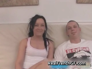 wild french gf gives a sloppy blow job part11