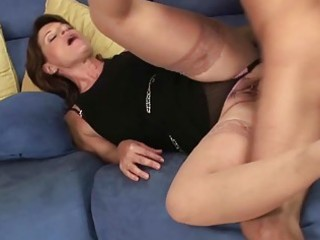 Hot milf hoe sucks her sons friends big boner