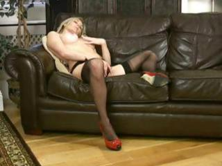 sexy blonde d like to fuck scarlet in nylons is