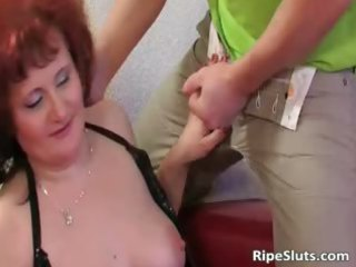 mommy has great large boobs as she is bends part11