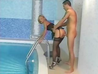 blonde euro christel starr fucked wearing nylons