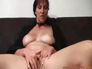 solo milf from checkmymilf.com rubbing her love