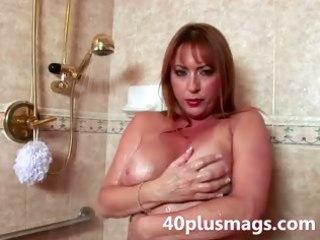 teasing older shower scene