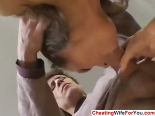 milf wife got facial from stranger