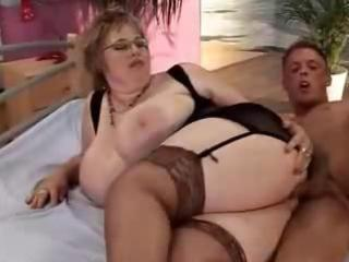 two curvy mature ladies for one youthful boy